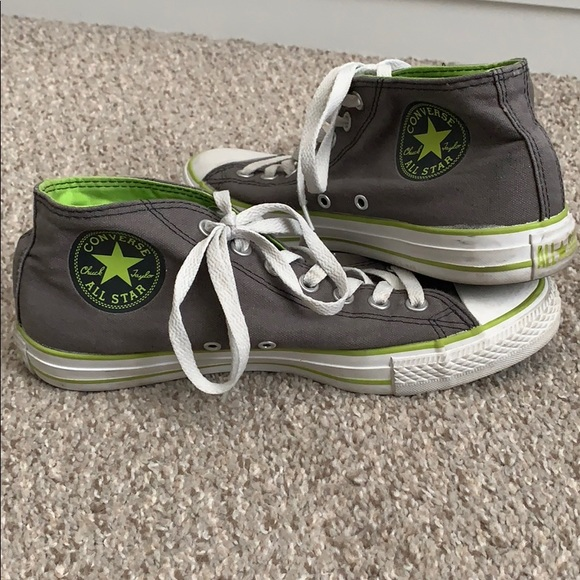 cb5efae5432 Converse Other - Converse Mid-Tops - Gray Lime White Size 8 Mens